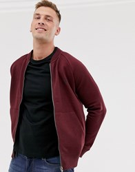 French Connection Zip Through Bomber Jacket Red