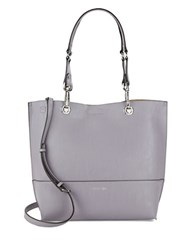 Calvin Klein Reversible Leather Satchel And Clutch Set Lilac
