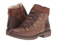 Spring Step Sine Brown Women's Lace Up Boots