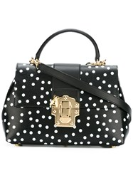 Dolce And Gabbana Lucia Satchel Black