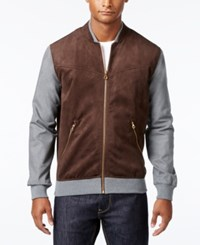 Sean John Men's Mock Neck Zip Up Jacket Coffee Bean