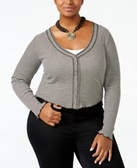 American Rag Trendy Plus Size Cropped Top Only At Macy's Classic Black Combo