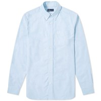 Fred Perry Authentic Button Down Oxford Shirt Blue