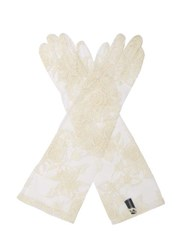 Ann Demeulemeester Floral Lace Gloves White