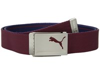 Puma Golf Reversible Web Belt Sodalite Pomegranate Belts Brown