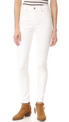 Levi's 721 High Rise Skinny Jeans Western White