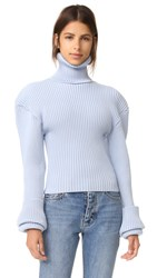 Jacquemus Oversized Shoulder Sweater Sky Blue