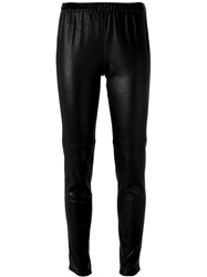 Michael Michael Kors Leather Leggings Black