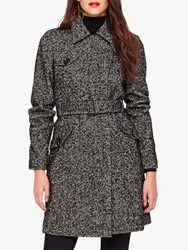Damsel In A Dress Anna Tweed Belted Coat Black White