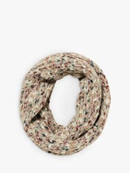 Fat Face Spacedye Knit Snood Natural