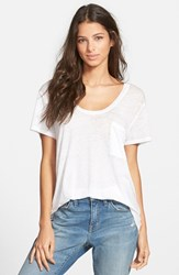 Women's Treasure And Bond One Pocket Burnout Tee White