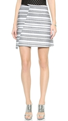 Bec And Bridge Trailblazer Wrap Skirt White Stripe