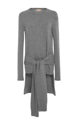 Michael Kors Collection Cashmere Tie Sleeve Pullover Grey