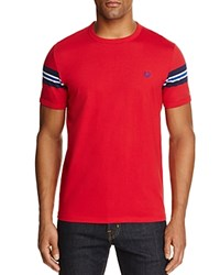 Fred Perry Stripe Sleeve Tee Blood Red