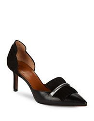 Aquatalia By Marvin K Megan Suede And Leather D Orsay Pumps Black
