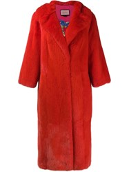 Gucci Gg Diamond Coat Red