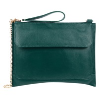 Oasis Leather Betti Clutch Deep Green