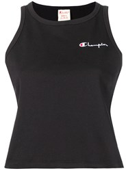 Champion Embroidered Logo Tank Top Black