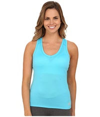 The North Face Reaxion Amp S L Tank Turquoise Blue Tnf Oatmeal Heather Women's Sleeveless