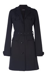 Simone Rocha Belted Fitted Heavy Jersey Coat Black