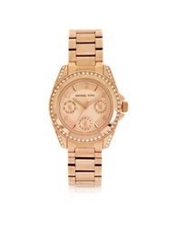 Michael Kors Rose Golden Mini Size Blair Multi Function Glitz Watch Pink