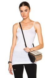 Helmut Lang Long Tank Top In White