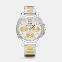 Coach Boyfriend Small Two Tone Multifunction Bracelet Watch