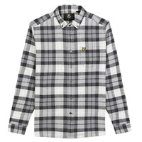 Lyle And Scott Checked Flannel Shirt Charcoal Marl