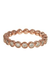 18K Rose Gold Plated Sterling Silver Cz Eternity Ring Pink