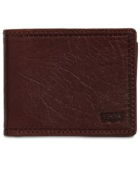 Levi's Rfid Extra Capacity Leather Wallet Tan