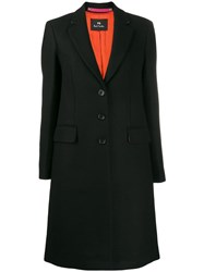 Paul Smith Ps Single Breasted Coat Black