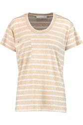 Kain Label Striped Stretch Jersey T Shirt White