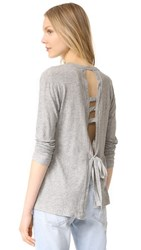 Wilt Open Back Pullover Grey Heather