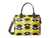 Orla Kiely Zip Messenger Mustard Satchel Handbags Yellow