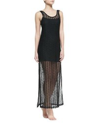 L Space Charmer Knit Tank Coverup With Slip Black