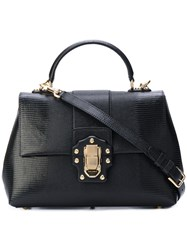 Dolce And Gabbana Lucia Satchel Women Calf Leather One Size Black