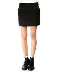 Saint Laurent Tuxedo Striped Wool Mini Skirt Men's Size 46 Black