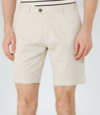 Reiss Wicker Mens Tailored Cotton Shorts In Brown
