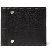 Balenciaga Arena Grained Leather Billfold Wallet Black