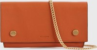 Allsaints Albert Leather Wallet Rust Orange