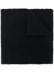 Maison Martin Margiela Mm6 Plain Scarf Women Acrylic Wool Alpaca One Size Black