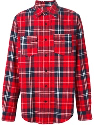 Les Artists Les Art Ists Tartan 'Tisci 74' Print Shirt Red