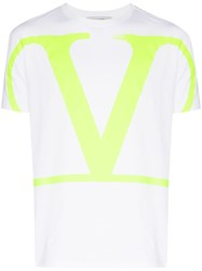 Valentino Oversized Vlogo T Shirt Yellow