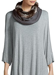 Amicale Faux Fur Honeycomb Collar Bourgogne