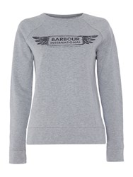 Barbour International Logo Sweat Grey