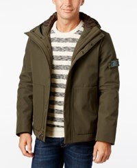 G.H. Bass And Co. Men's Hooded Storm Jacket Olive