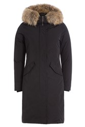 Woolrich Down Parka With Fur Collar Black