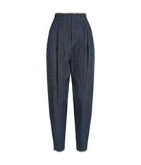 Whistles Leander Frayed Denim Trousers Blue