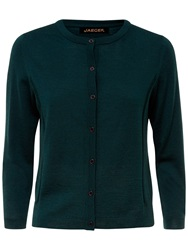 Jaeger Gostwyck Detail Cardigan Forest Green