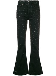 Maison Martin Margiela Mm6 Flared Bootcut Jeans Black